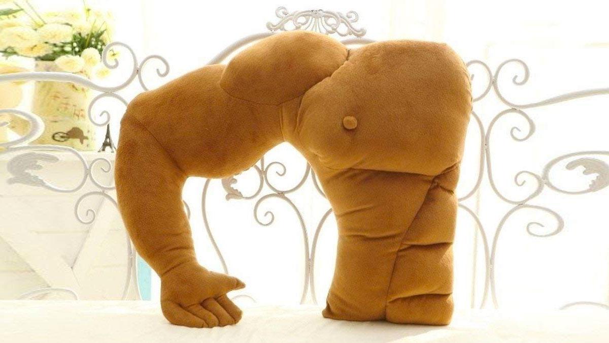 1. Muscle Man Boyfriend Pillow
