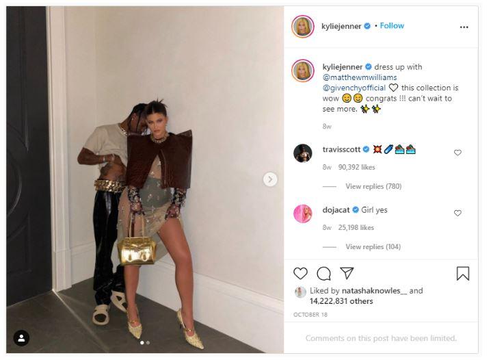 10. Kylie Jenner-14.2 miljoen likes