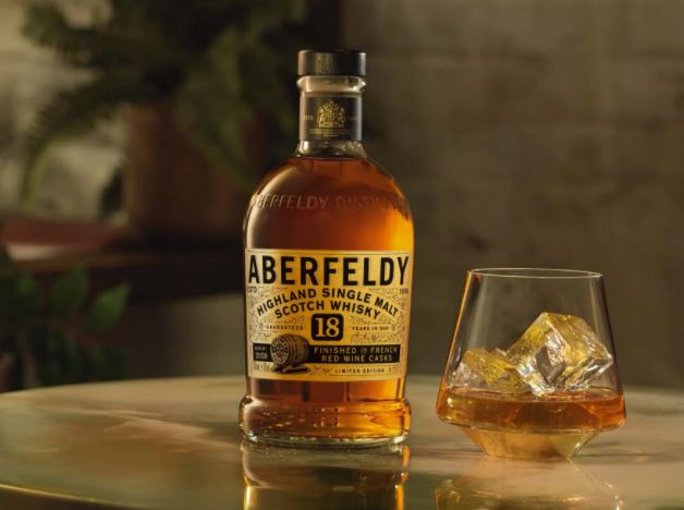 10. Aberfeldy 18-Year-Old French Red Wine Cask Finished